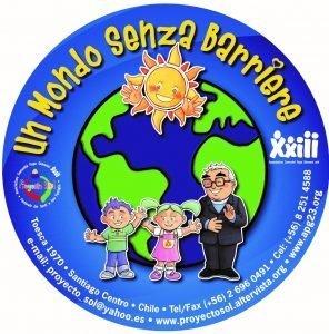 copertina del DVD un mondo senza barriere con disegnati i personaggi del filmato