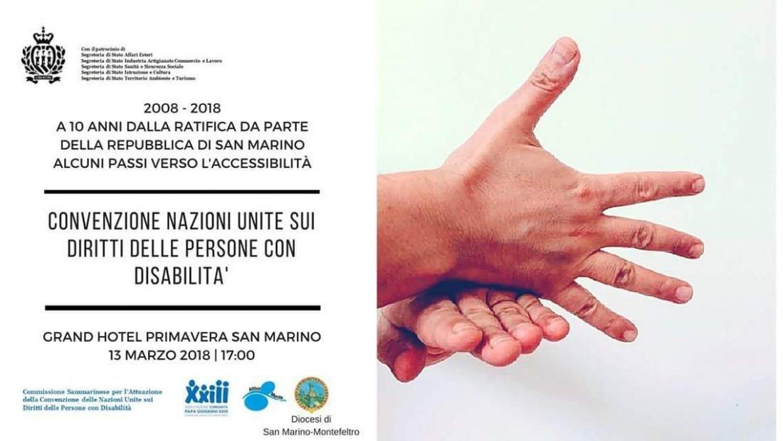 Locandina Convenzione Onu su diritti persone con disabilità