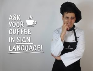 ask your coffe in sign language