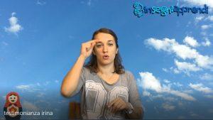 immagine tratta dal video di testimonianza di irina